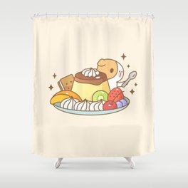 Guinea pig with Japanese Pudding, Bubu and Moonch  Shower Curtain