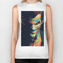 Joker Pop Art Portrait Biker Tank