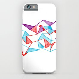 Polygon collection - Triangles geometric iPhone Case