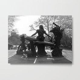 'Alice in Central Park' Metal Print
