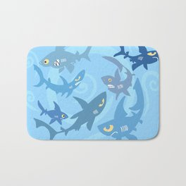 Shiver of Sharks Bath Mat