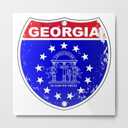 Georgia Interstate Sign Metal Print