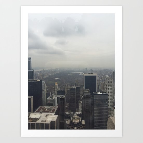 Central Park in the Fog Art Print