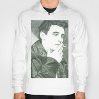 james franco Hoodies featuring Mr Franco by Troy Salmon Art