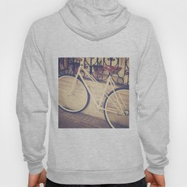 Pierina's Pink Bicycle  - Retro and Vintage Photography Hoody