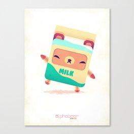 Milk Bear Canvas Print