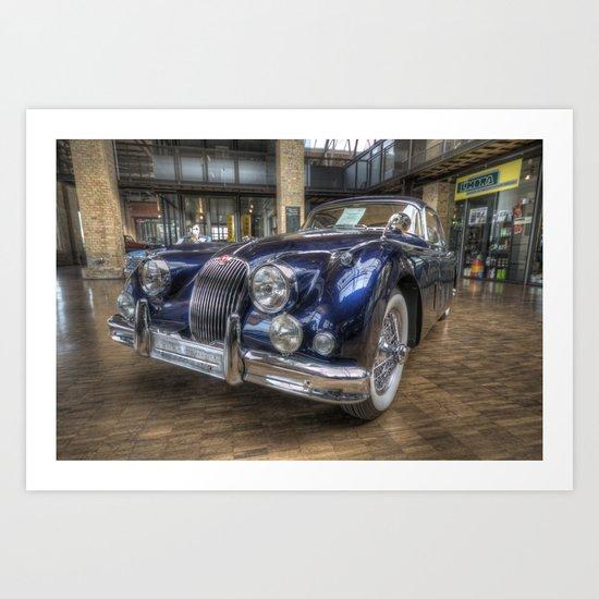 Blue Jag La  Mans winner Art Print