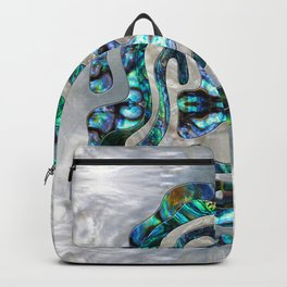Abstract Ripple  Abalone and Mother of pearl Backpack
