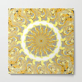 Orange and Yellow Kaleidoscope 2 Metal Print