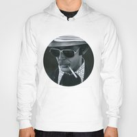 hunter s thompson Hoodies featuring Hunter S. Thompson on vinyl record print by Eric Popp