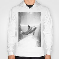 swimming Hoodies featuring Swimming by Kim Ramage