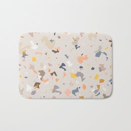 Lively Colorful Terrazzo Pattern Bath Mat