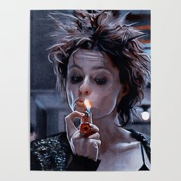 Marla Singer Smokes A Cigarette During Group Therapy - Fight Poster