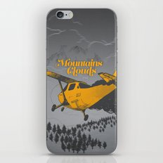 Mountains Hide in Clouds II - Gray iPhone & iPod Skin