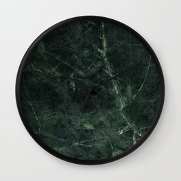 Dark Green Marble Texture Stone Wall Clock