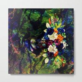 floral beauty marble Metal Print