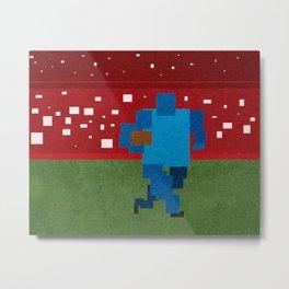 Football art minimalist Metal Print