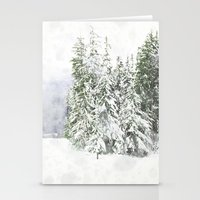 snowboard Stationery Cards featuring Winter Fresh by Pure Nature Photos