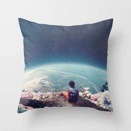 My World Blossomed when I Loved You Throw Pillow