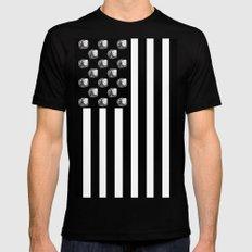 US MiniFigure Flag - Vertical Mens Fitted Tee MEDIUM Black