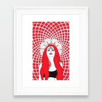 third eye Framed Art Prints featuring third eye by NushKi