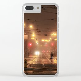Winter Fog #6 Clear iPhone Case