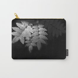 Ferns on Black Carry-All Pouch