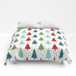 Christmas Tree holiday dots snow polka dot minimal modern geometric christmas decor design Comforters