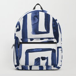 Inky Squares | Classic Blue Backpack