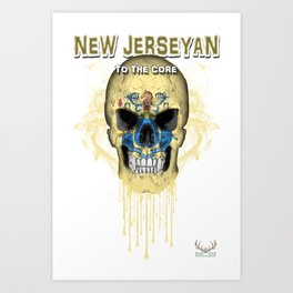 To The Core Collection: New Jersey Art Print