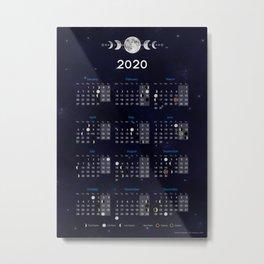 Moon calendar 2020 #9 Metal Print