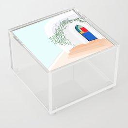 Green Glass Doors Acrylic Box