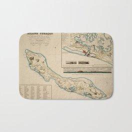 Map Of Curacao 1836 Bath Mat