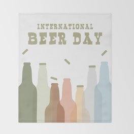 International Beer Day - Cheers for the World Throw Blanket