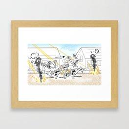 Army Retreat Framed Art Print