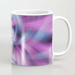 Purple and Blue Light Waves Coffee Mug