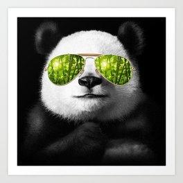 cool panda Art Print