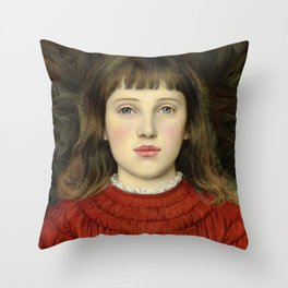 "Evelyn De Morgan ""Portrait of Alice Mildred Spencer Stanhope"" Throw Pillow"