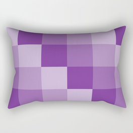 Four Shades of Purple Square Rectangular Pillow