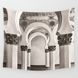 The Historic Arches in the Synagogue of Santa María la Blanca, Toledo Spain Wall Tapestry