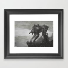 Alien Scout Framed Art Print