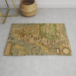 Map Of Africa 1597 Rug