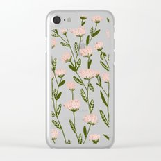 Rose Garden Pattern Clear iPhone Case