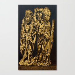 Medieval Wood Carving Canvas Print