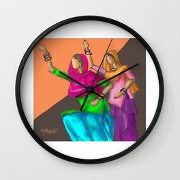 Punjabi girls Giddah Wall Clock
