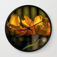 tulip Wall Clocks featuring tulip by Karl-Heinz Lüpke