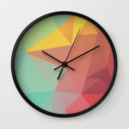 Geometric X Wall Clock