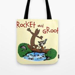 Rocket and Groot Tote Bag