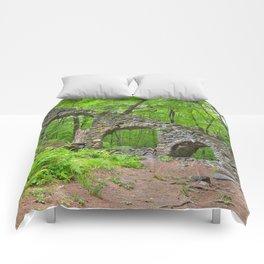 Forest Castle Ruins Comforters
