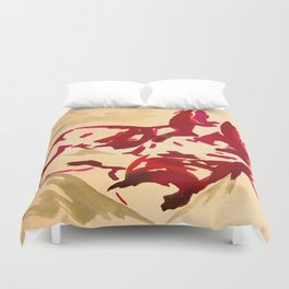 Nude in red Duvet Cover